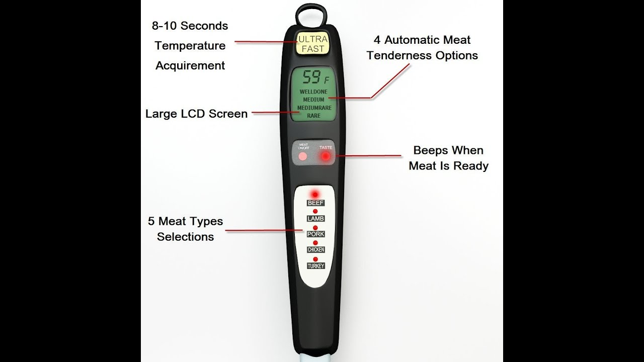 meat thermometer fork instructions