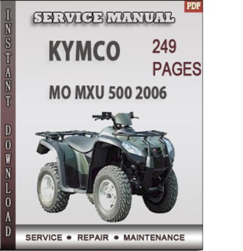 kymco mxu 500 service manual free