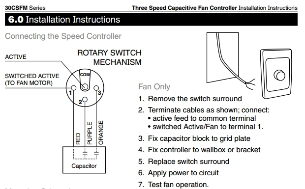hpm light switch wiring instructions