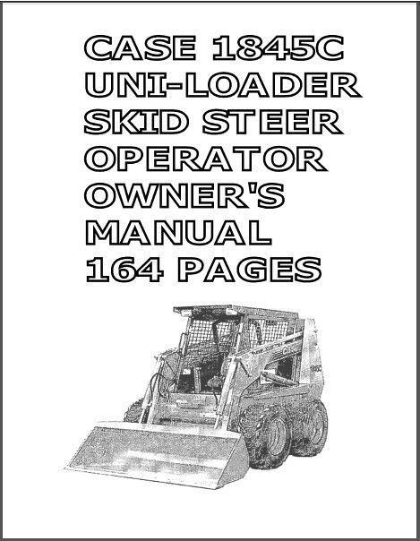 1845c case skid steer parts manual