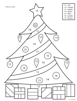 color coded christmas tree instructions