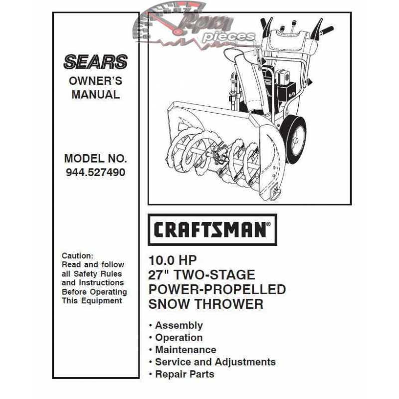 craftsman snowblower carburetor repair manual