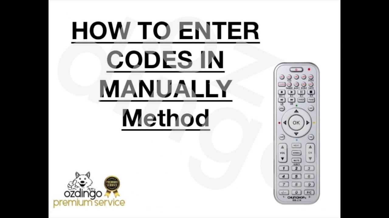 universal 8 remote code 30028790 manual