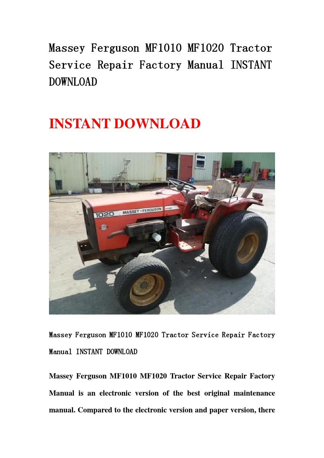massey ferguson to35 manual download