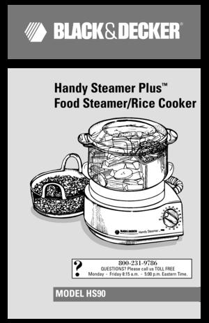 black and decker handy steamer hs80 manual