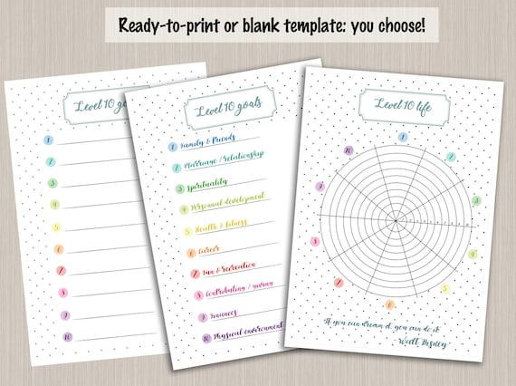 level 10 life template pdf