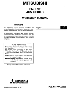 mitsubishi 4m51 engine service manual pdf