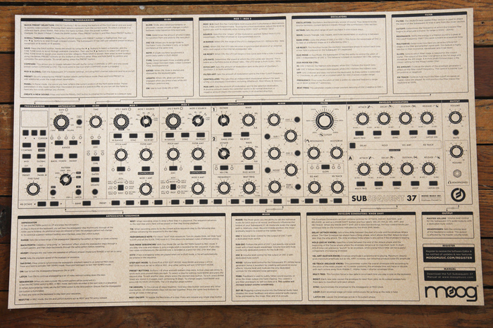 moog subsequent 37 user manual