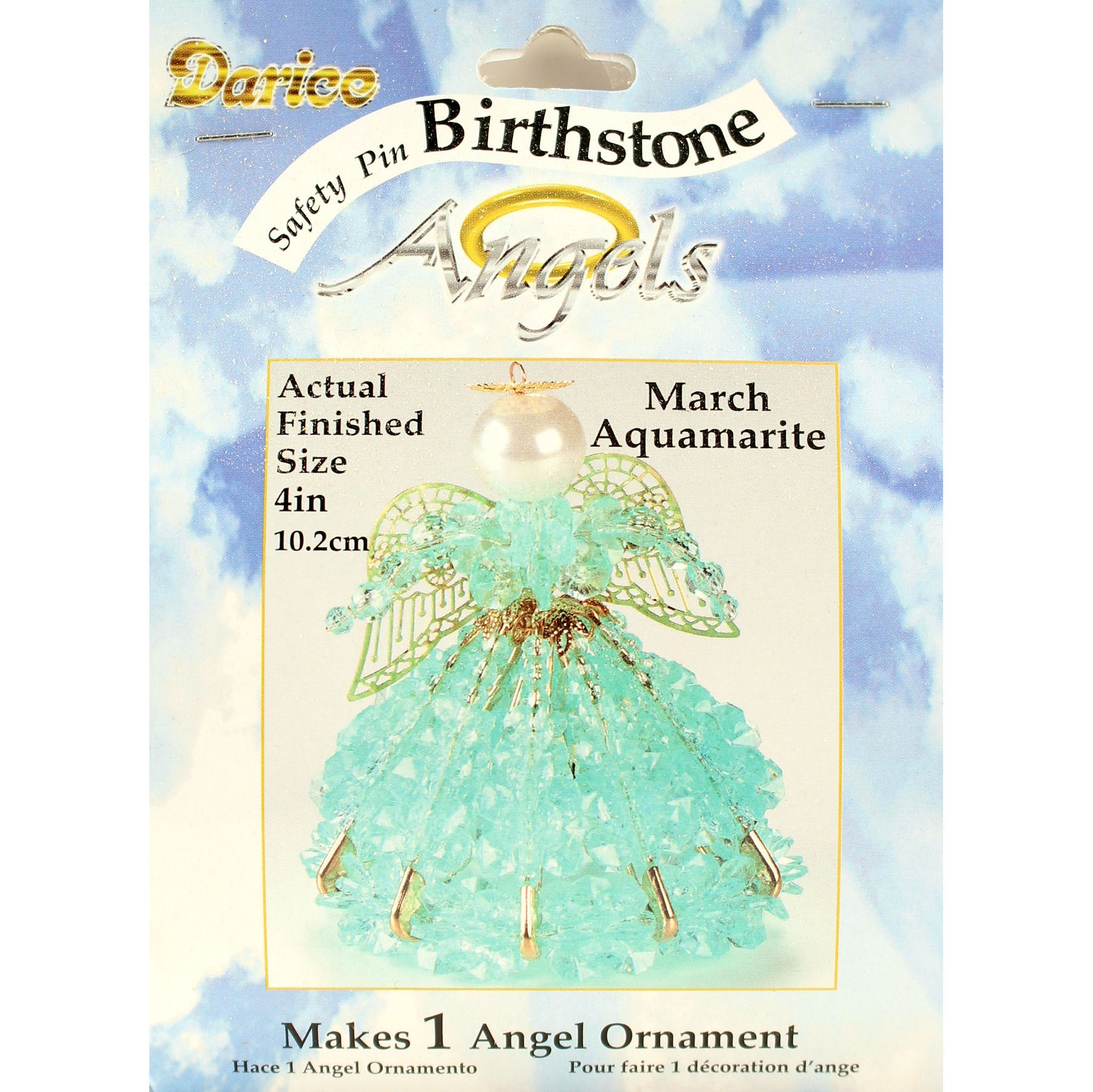 safety pin birthstone angels instructions