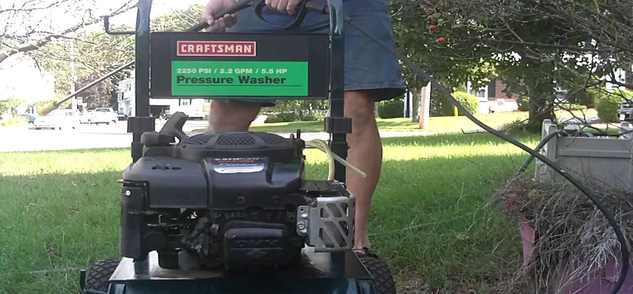 stanley 5.5 hp pressure washer manual